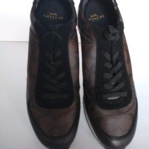 COACH Rebecca Sneakers Mahogany/Black Brown 9.5B